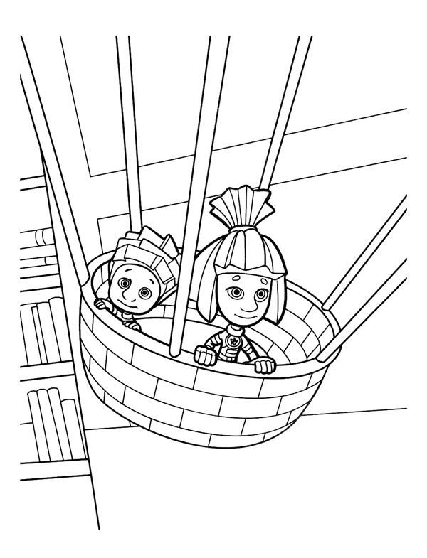 Раскраска Симка и Нолик 22