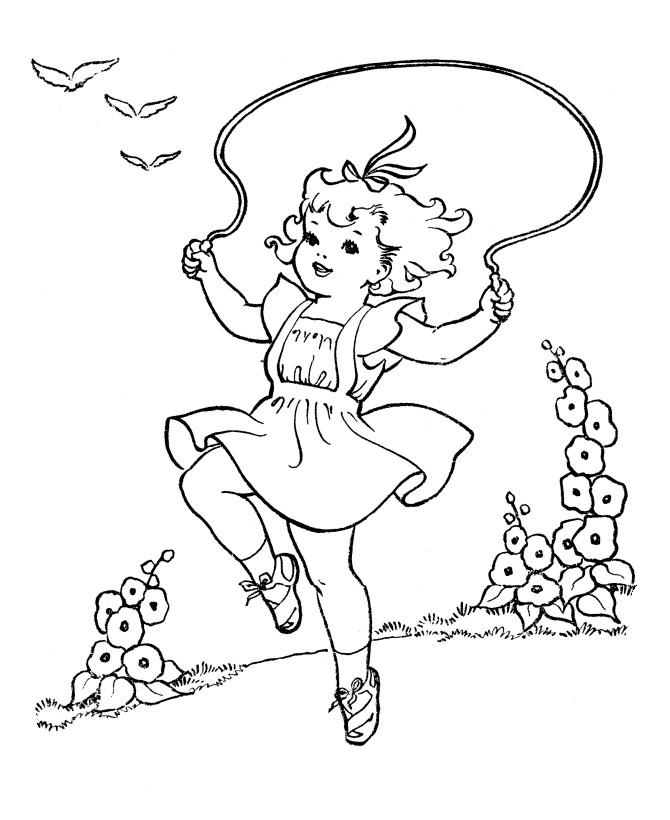 Девочка на прыгалке