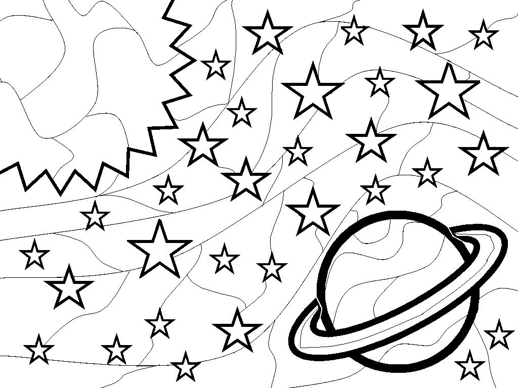 Раскраска космос 56