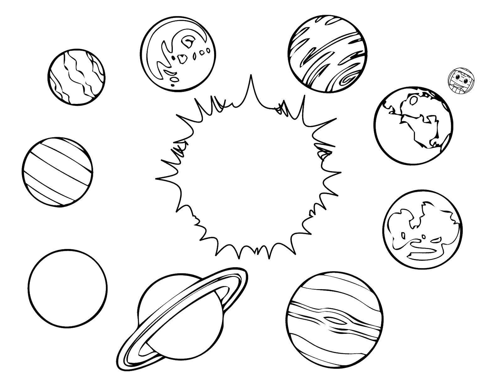 Раскраска космос 111