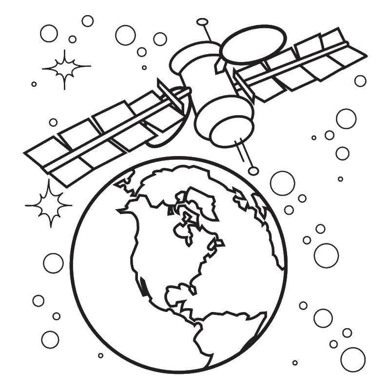 Раскраска космос 31