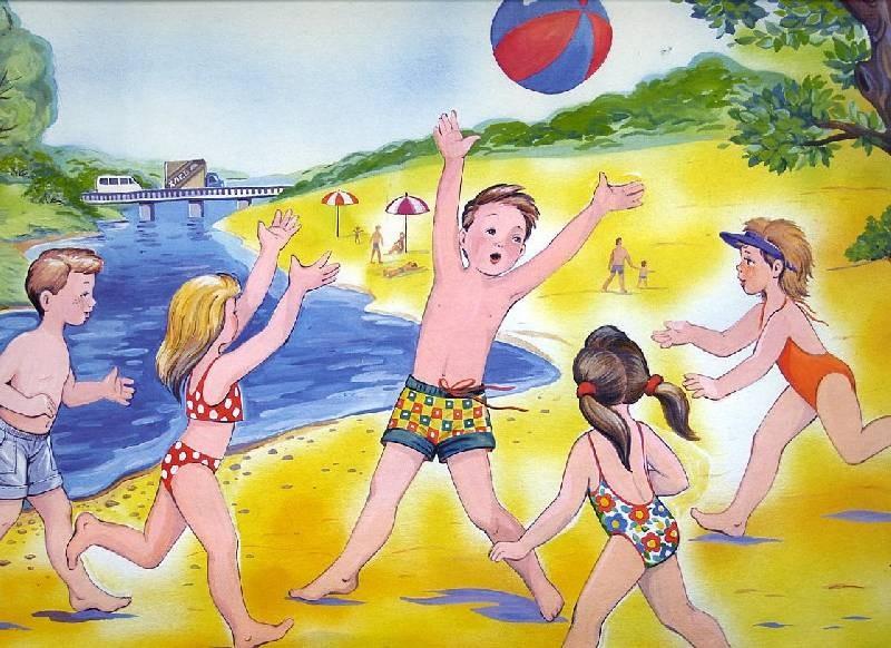 дети на пляже 6