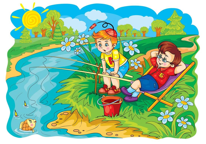 Дети на рыбалке 5