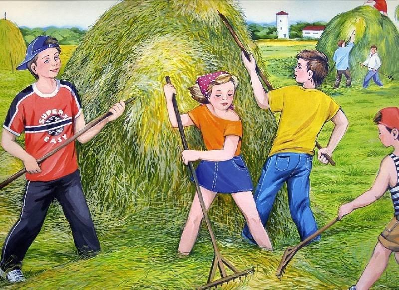 Подростки в деревне