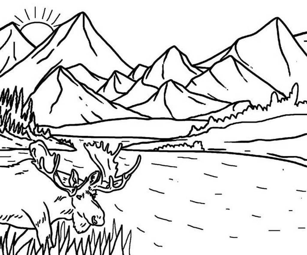 Раскраска горы
