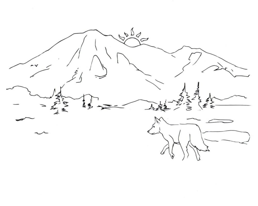 Раскраска волк 56