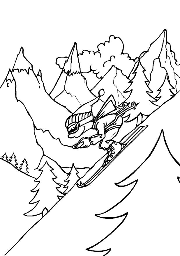Раскраска горы 9