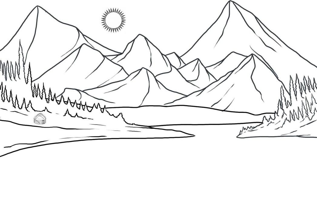 раскраска горы 2