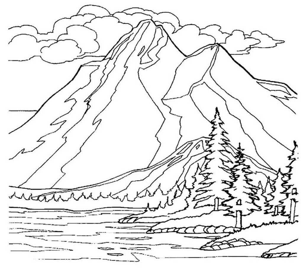 Раскраска горы 47