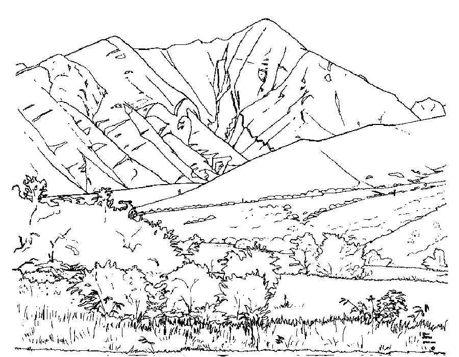 Раскраска горы 76