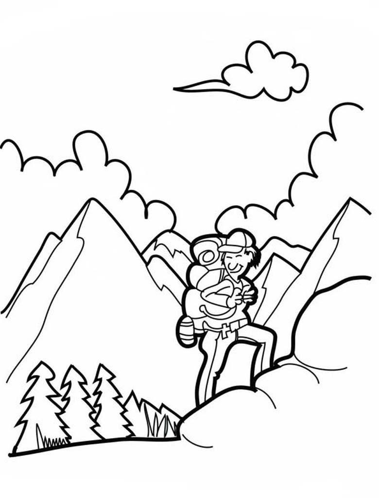 Раскраска горы 34