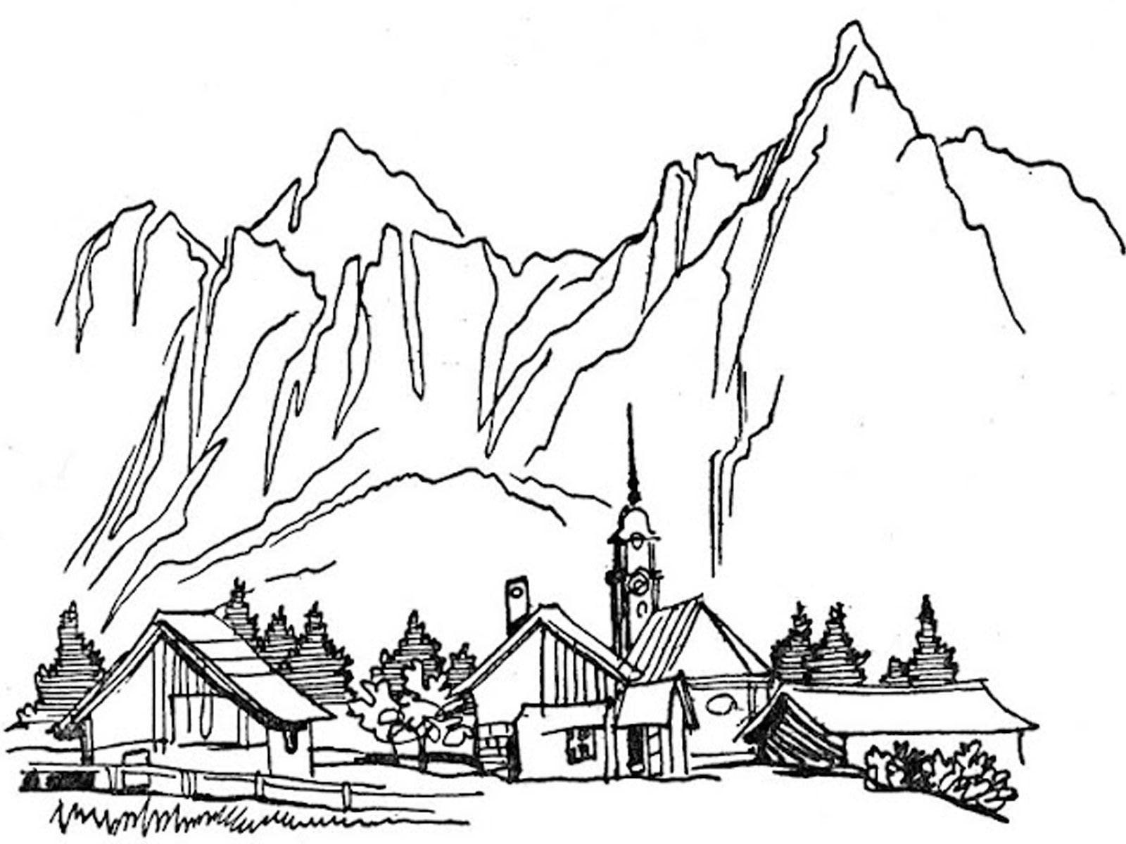 Раскраска горы 23
