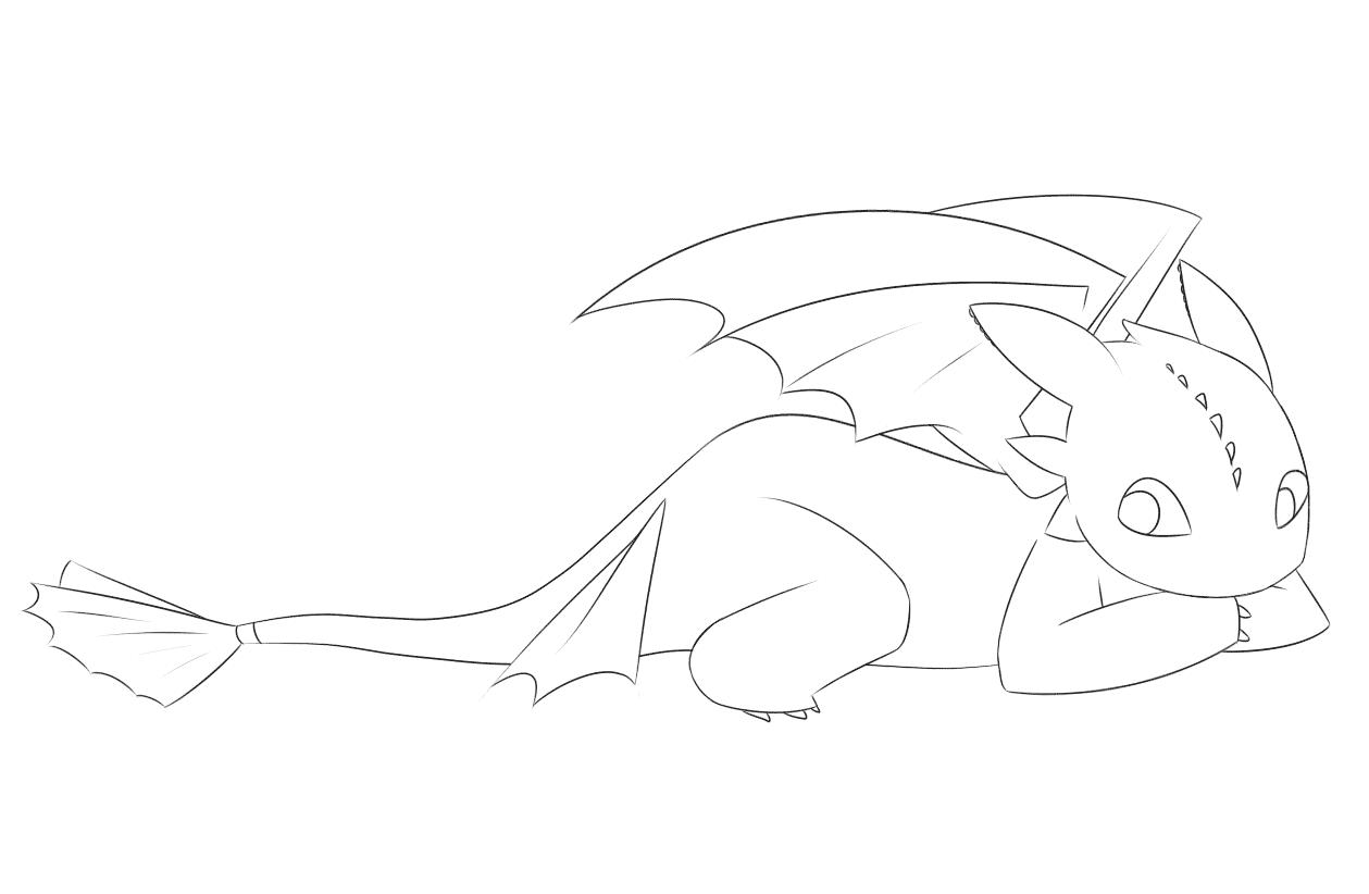 раскраска Беззубик 4