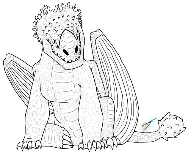 раскраска дракон 11