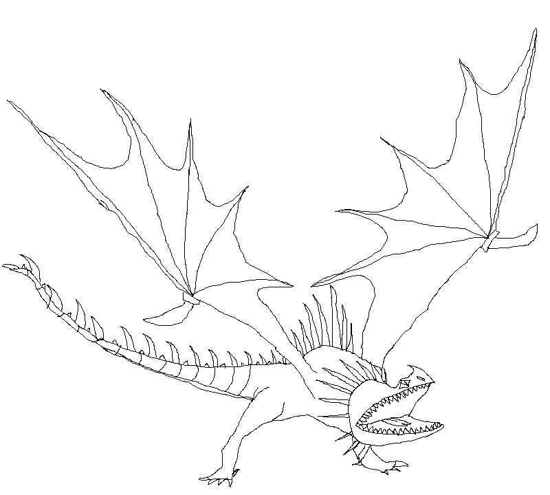 раскраска дракон Andrey Eltsov Ru