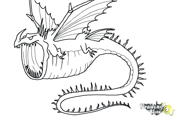 Раскраска дракон 19