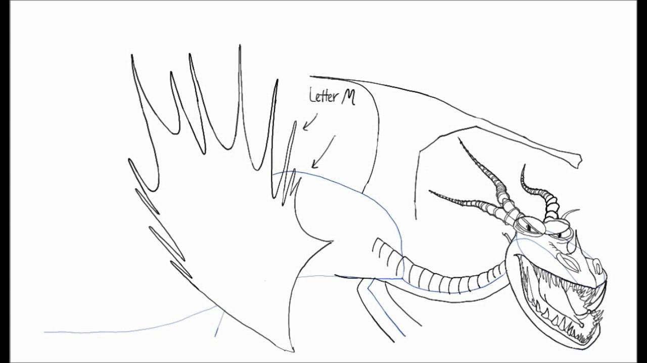 Раскраска дракон 2