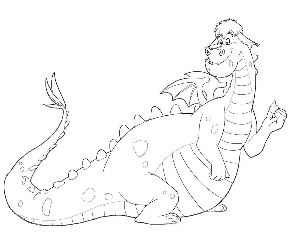 раскраска дракон 4
