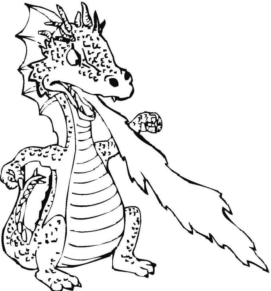 раскраска дракон 8