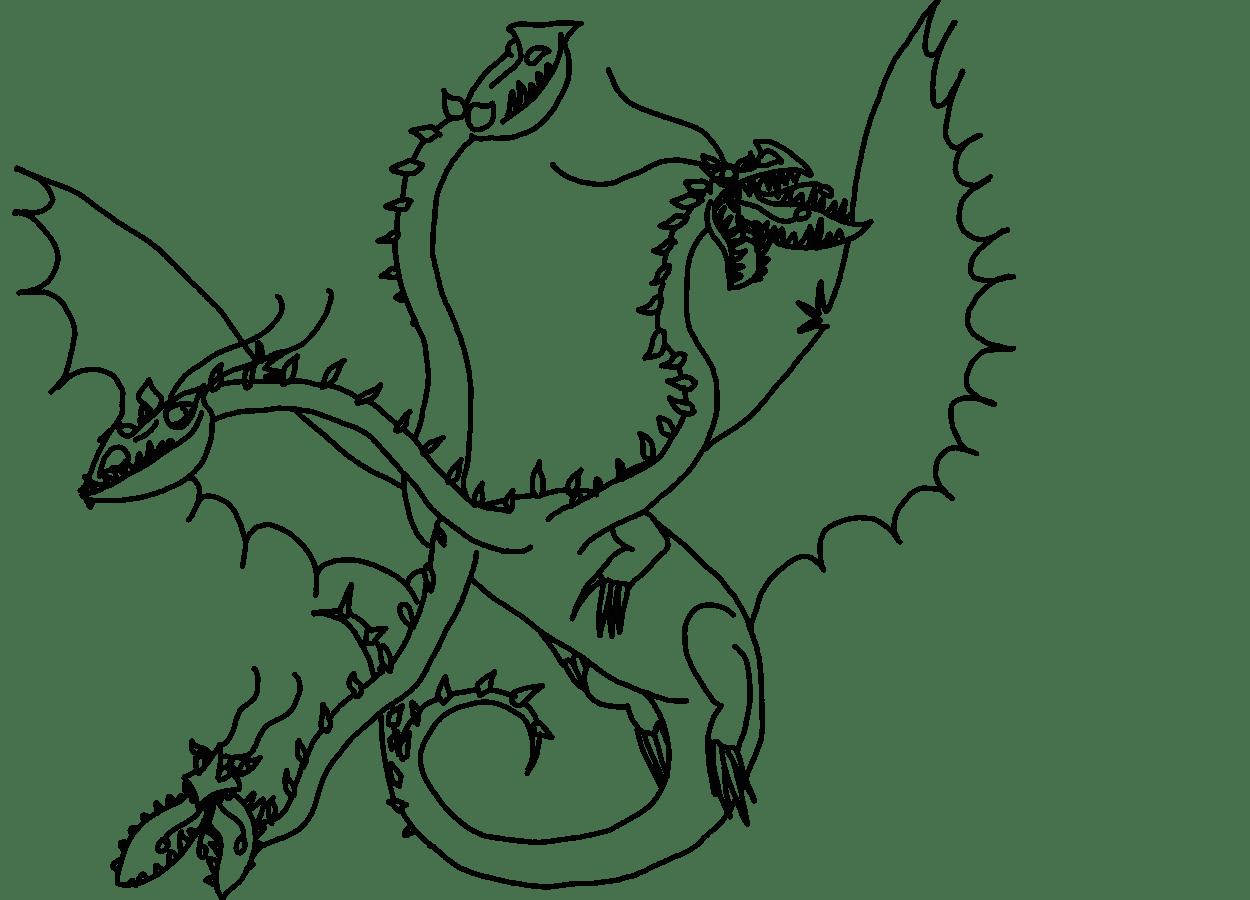 Раскраска дракон 21