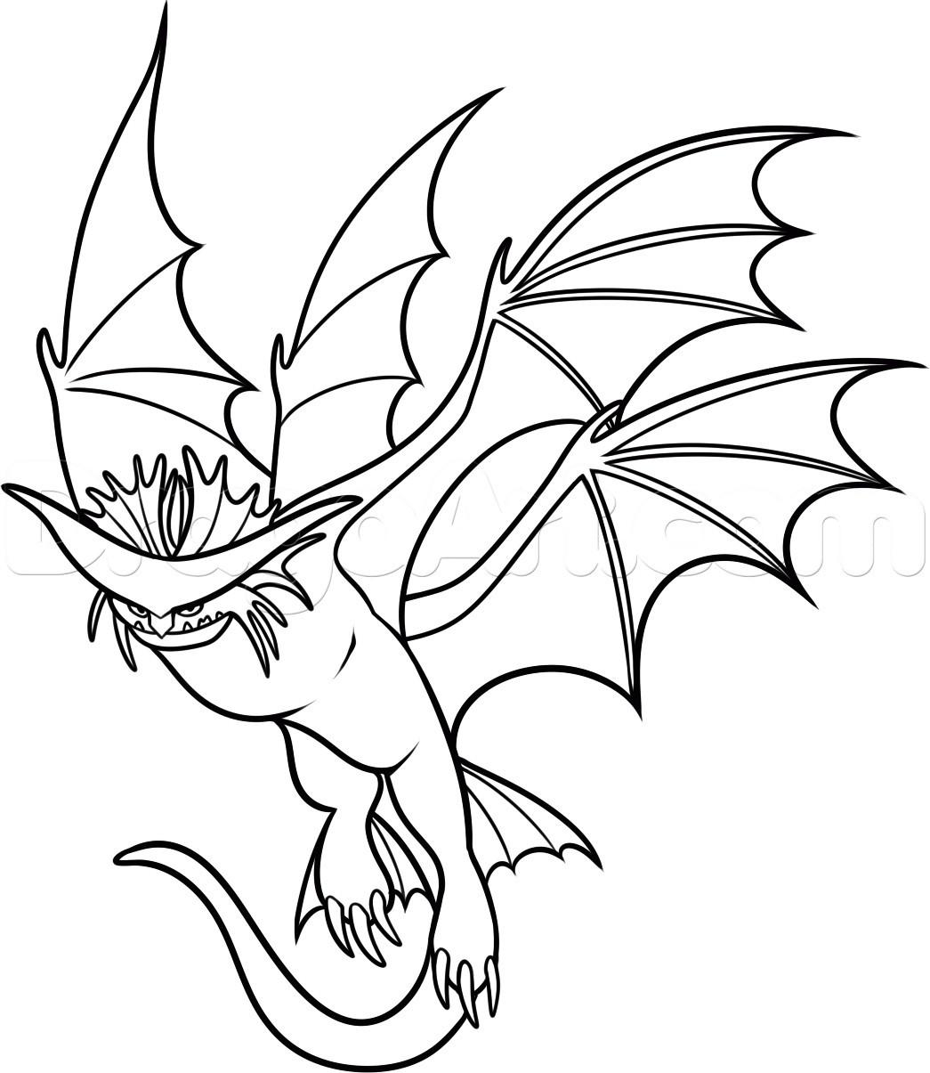 Раскраска дракон 7