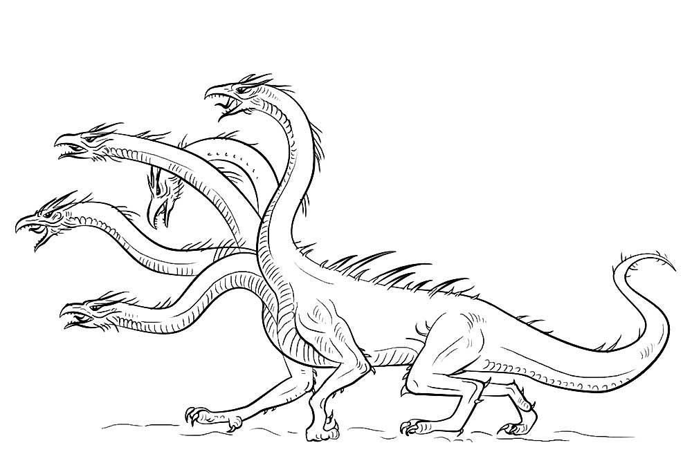 Пятиголовый дракон