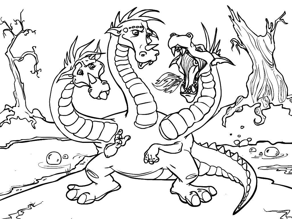 Раскраска дракон 9