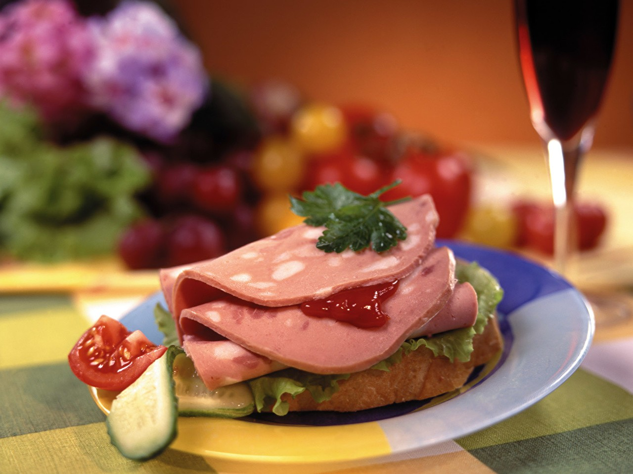 Красивый бутерброд