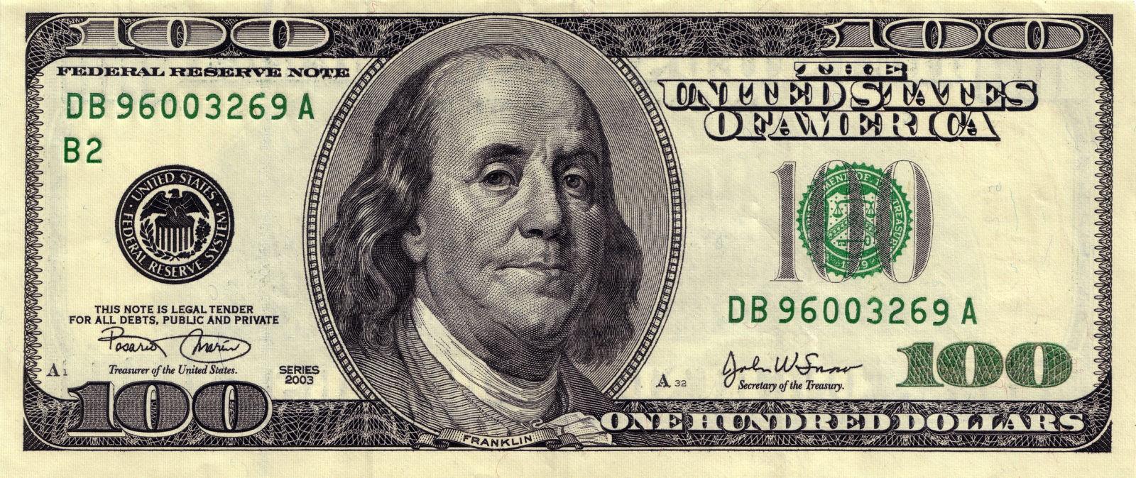 100 долларов фото