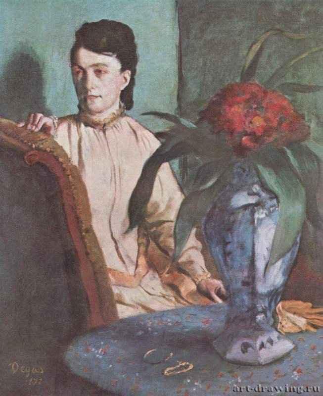 Сидящая женщина с вазой