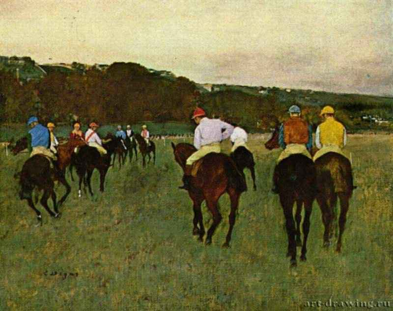 Скаковые лошади в Лоншане