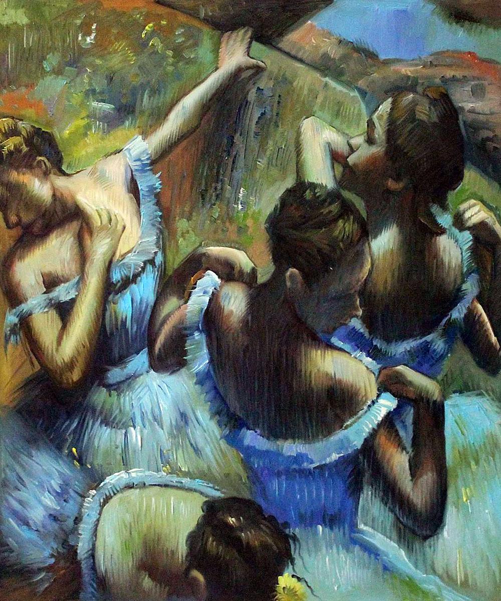 Голубые танцовщицы Дега