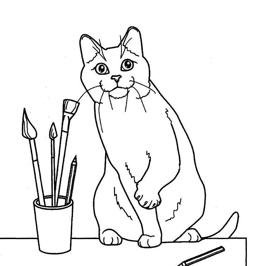 Раскраска кошка | andrey-eltsov.ru