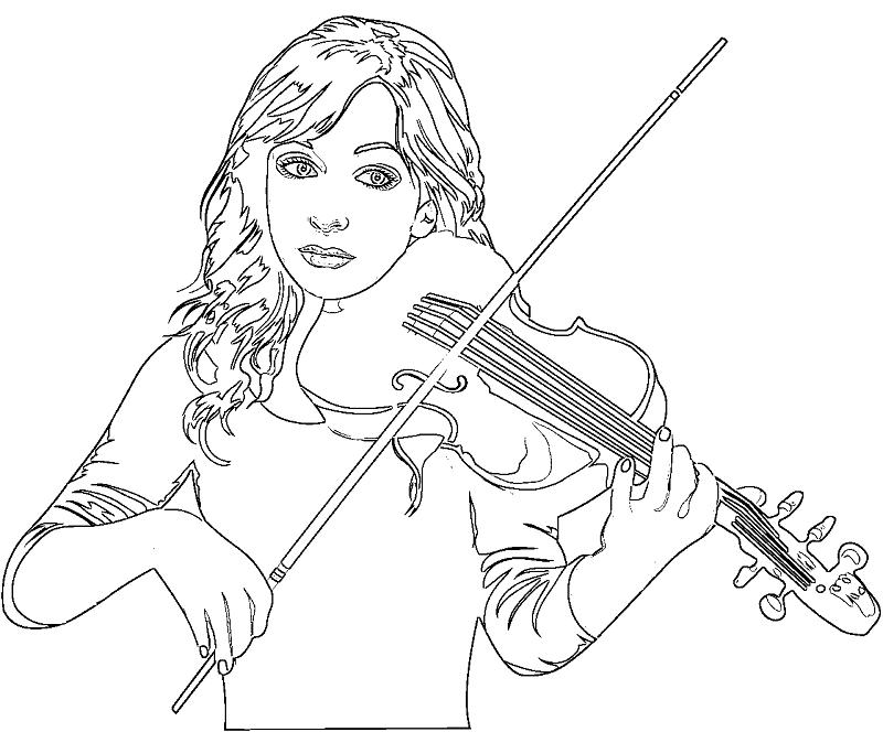 Раскраска скрипачка