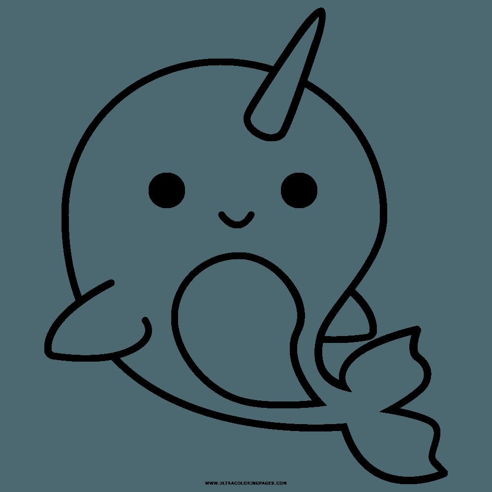 раскраска дельфин-единорог
