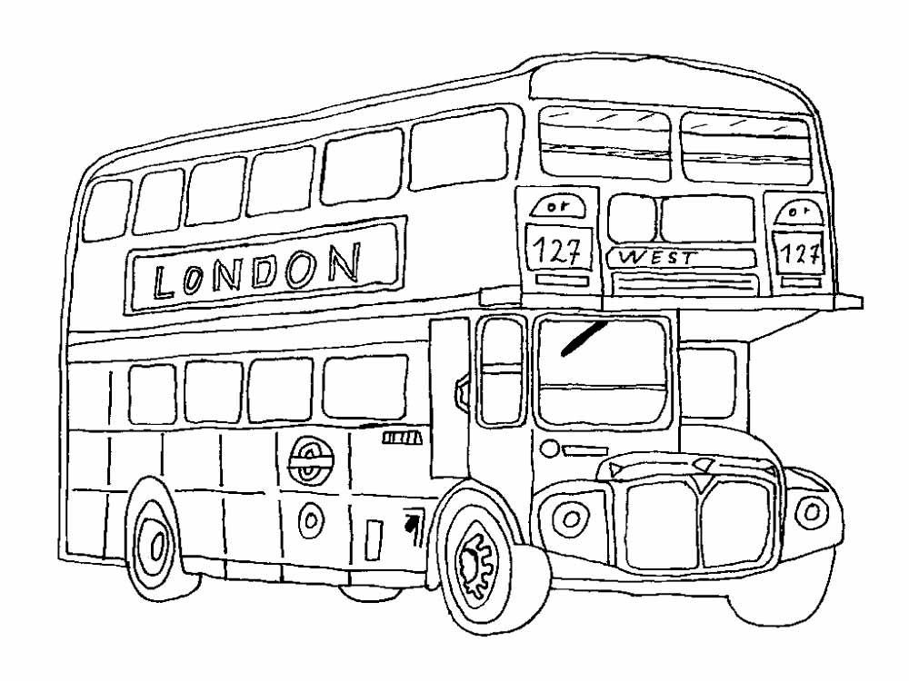 Раскраска автобус 7