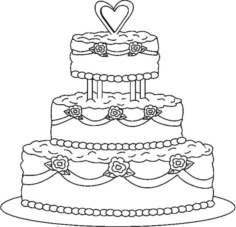 раскраска торт 21