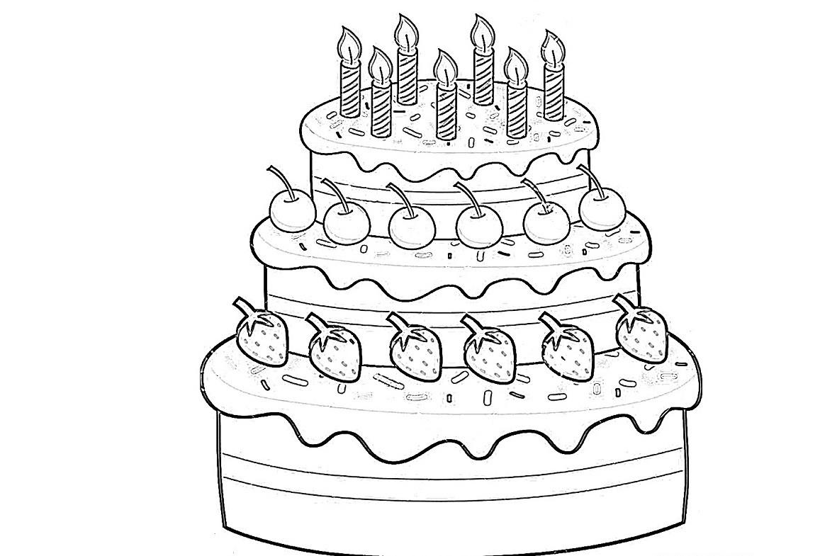 раскраска торт 11