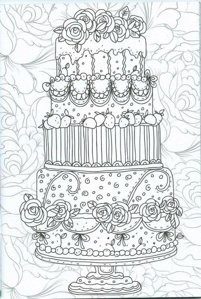раскраска торт антистресс