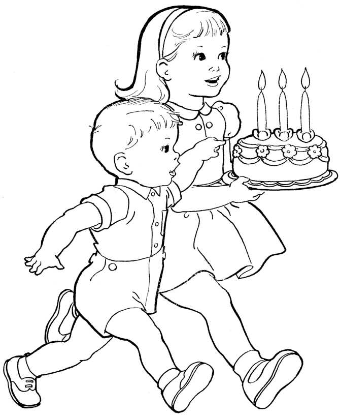 дети с тортом фото