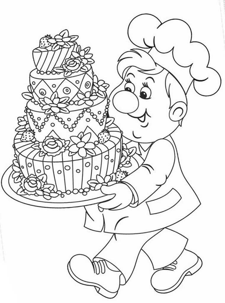 раскраска торт 2