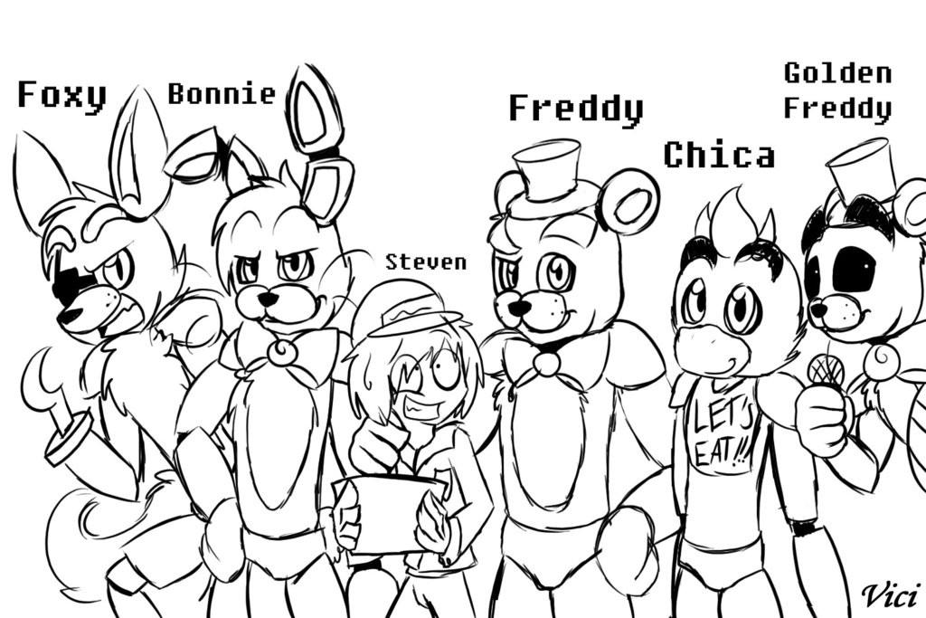 Раскраска аниматроники 4