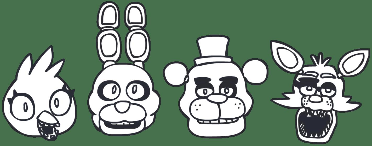 лица аниматроников