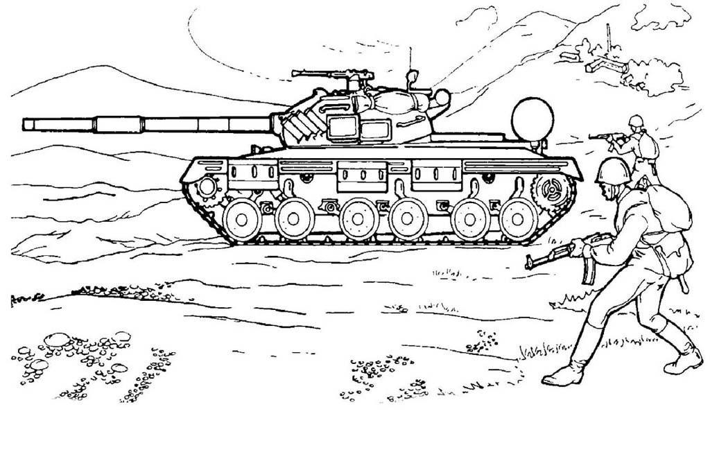 раскраска танк Andrey Eltsov Ru
