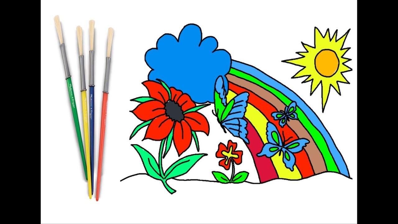 раскраска радуга 20