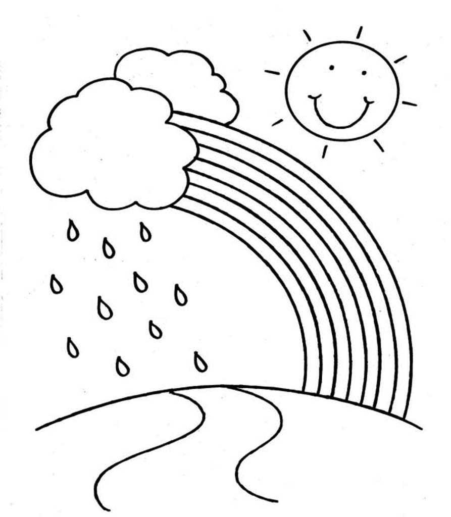 Радуга с дождём