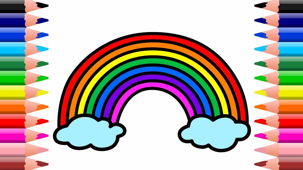 раскраска радуга 2