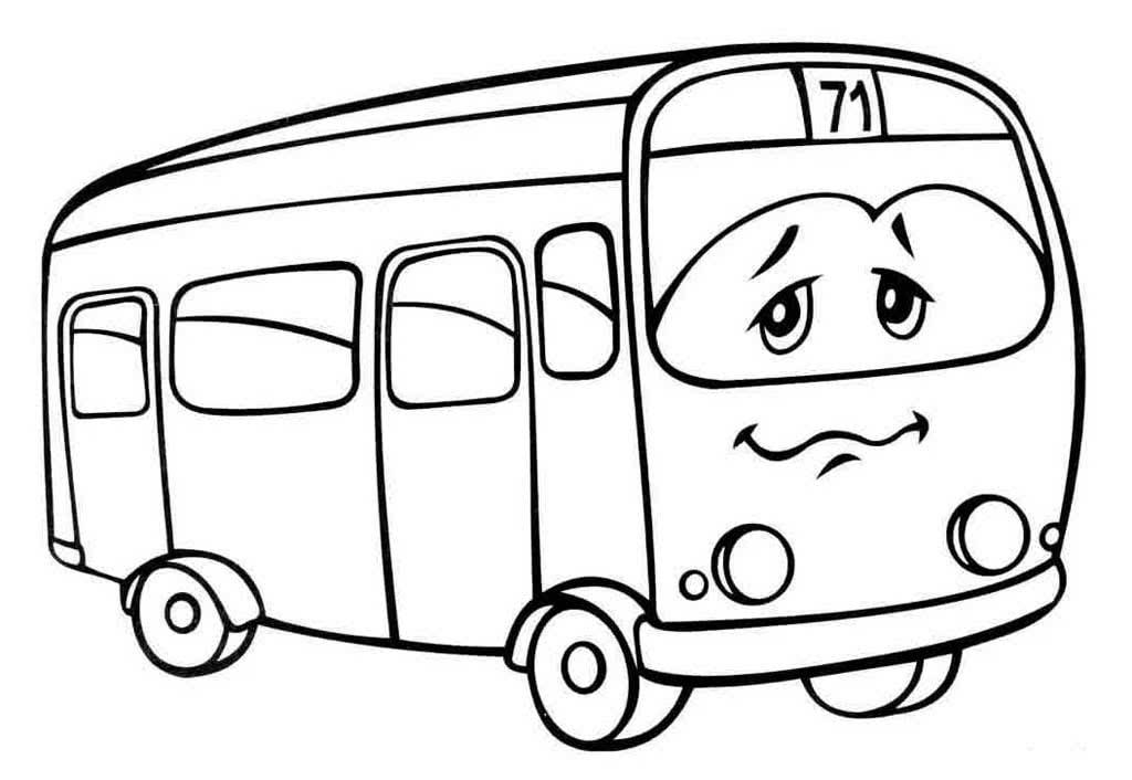 Раскраска автобус для детей 5