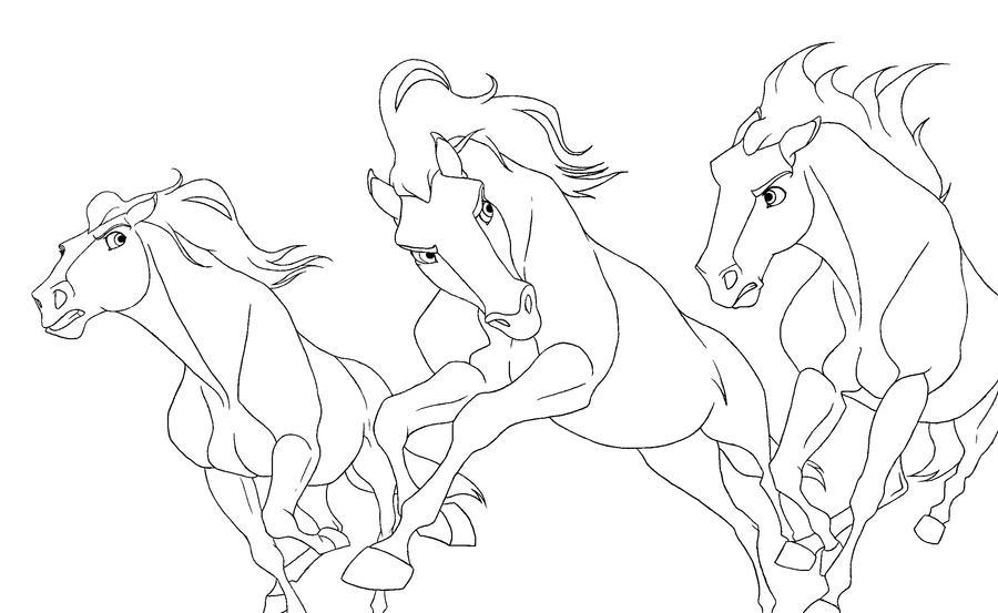 Раскраска кони