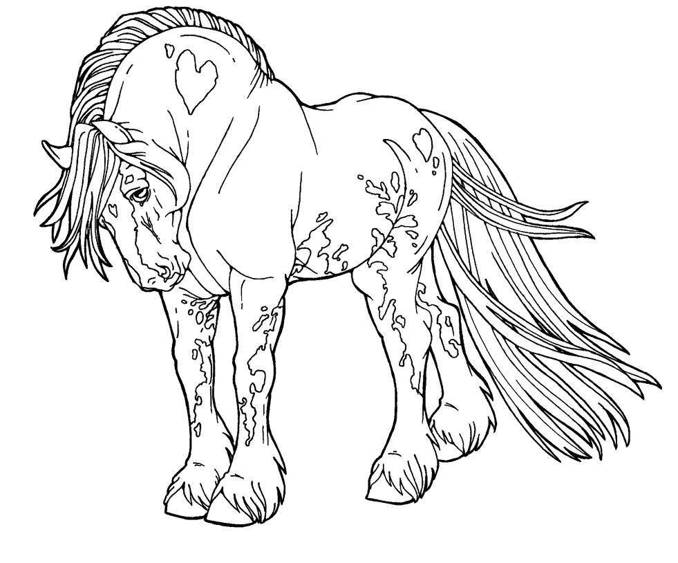 Лошадь-тяжеловоз фото